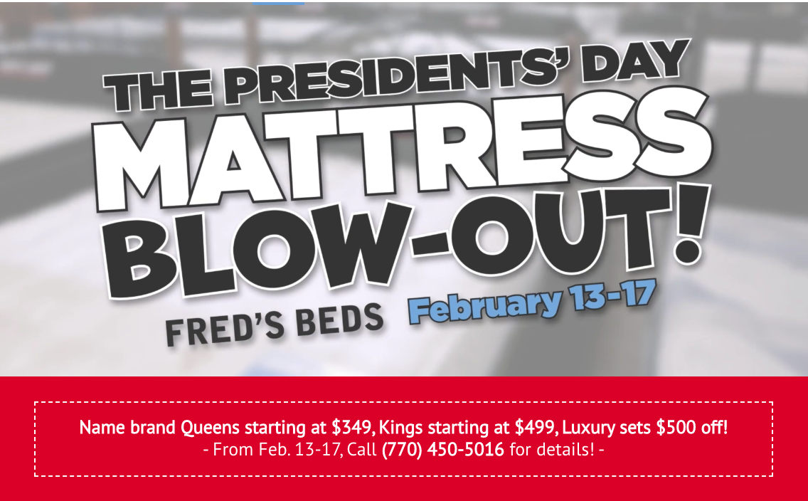 Fred S Beds Presidents Day Mattress Sale Kicks Off